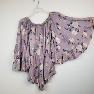 Don't ask Why Pants - Don't ask Why BOHO floral bell sleeve Romper